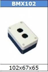 Caixa plastica BMX102 2FUROS