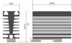 Dissipador B1 P/Reles de estado sólido até 50AMP