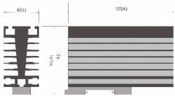 Dissipador B2 P/Reles de estado sólido até 65AMP