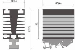 Dissipador B6 P/Reles de estado sólido até 15AMP