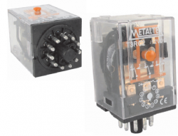 Rele metaltex T2RA22/L 24VAC 10A 2 REV.C/LED