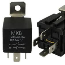 Rele auxiliar automotivo S/suporte MKB4M-24VCC