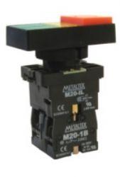 Botão Duplo P20ITL-Y-1C Iluminado AM 1NA+1NF 220V