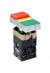Botão Duplo M20ITL-Y-1C Iluminado AM 1NA+1NF 220V